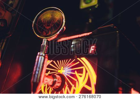Ufa, Russia, Harats Pub, 12 December, 2018: Jagermeister Alcohol Drinks In Bar. Bartender Pours A Gl