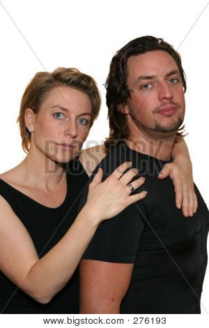 Isolated Couple Serious