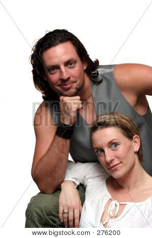 Isolated Couple Formal Portrait