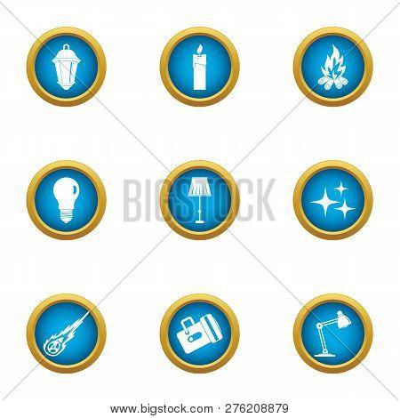 Emphasize Icons Set. Flat Set Of 9 Emphasize Icons For Web Isolated On White Background