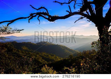 Trip To The Highest Mountain Of Pai - Sunset Mountain View  In Doi Mieng Viewpoint  Pai Mae Hong Son