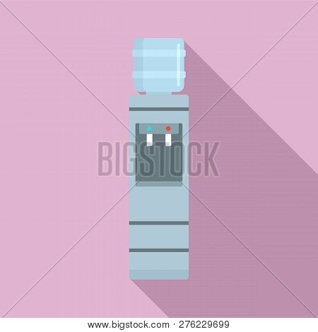 Work Water Cooler Icon. Flat Illustration Of Work Water Cooler Vector Icon For Web Design