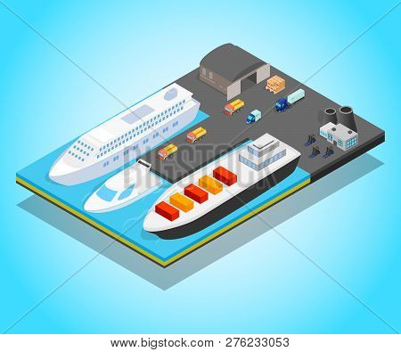 Pier Concept Banner. Isometric Banner Of Pier Vector Concept For Web, Giftcard And Postcard