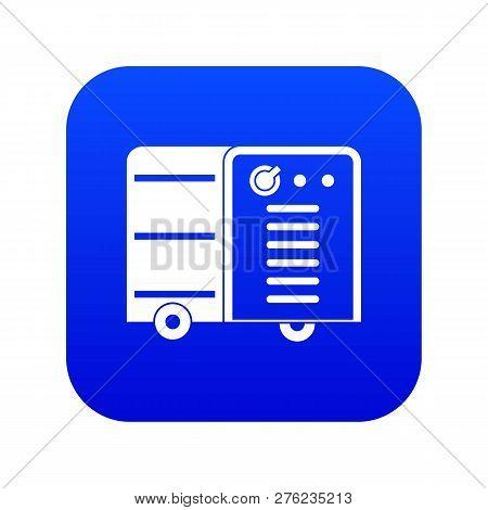 Inverter Welding Machine Icon Digital Blue For Any Design Isolated On White Vector Illustration