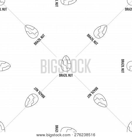 Brazil Nut Icon. Outline Illustration Of Brazil Nut Vector Icon For Web Design Isolated On White Bac