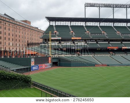 Baltimore, Md September 24, 2018: Camden Yards, Stadium Of The Baltimore Orioles, Empty In The Offse
