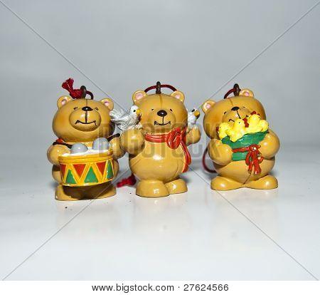 three little bears stock photo