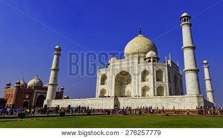 Agra, Uttar Pradesh, India - December 1: Crown Of The Palaces - Taj Mahal On December 1, 2018 In Agr