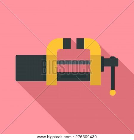 Garage vice icon. Flat illustration of garage vice icon for web design poster