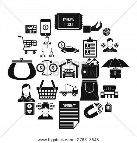 Cost Icons Set. Simple Set Of 25 Cost Icons For Web Isolated On White Background