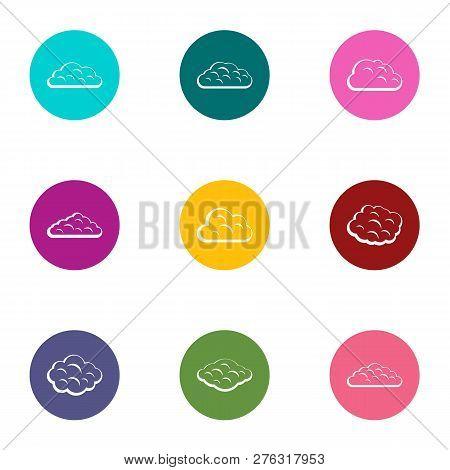 Fog Icons Set. Flat Set Of 9 Fog Icons For Web Isolated On White Background