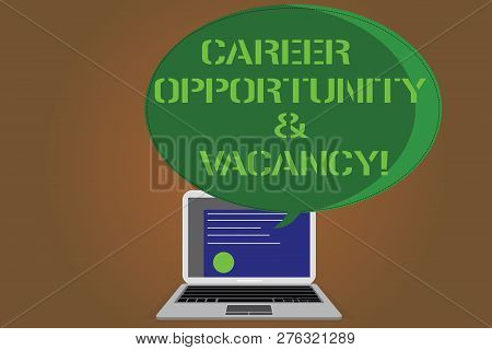 Writing Note Showing Career Opportunity And Vacancy. Business Photo Showcasing Job Searching Huanaly