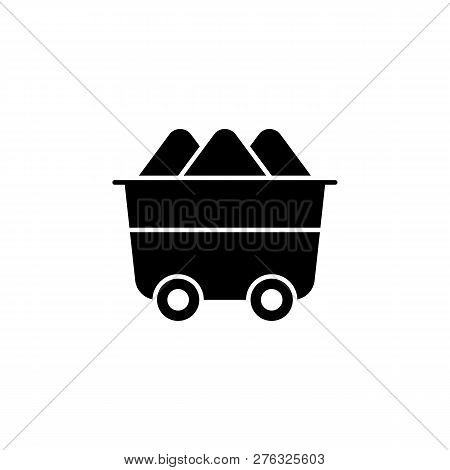 Trolley, Mineral Resource Icon On White Background. Can Be Used For Web, Logo, Mobile App, Ui, Ux