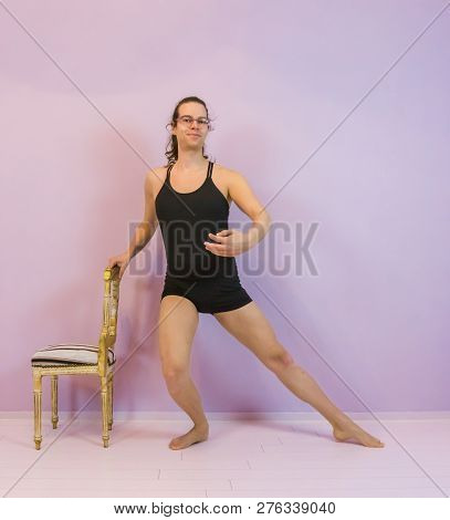 Ronde Jambe In Plie, Classical Ballet Dancing Moves Preformed By A Young Transgender Girl, Lgbt In T