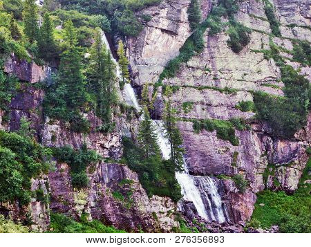 Murgbachfall Waterfall On The Murgbach Stream And Under The Mittlerer Murgsee Lake - Canton Of St. G