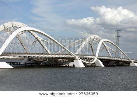 IJ-bridge in Amsterdam Holland