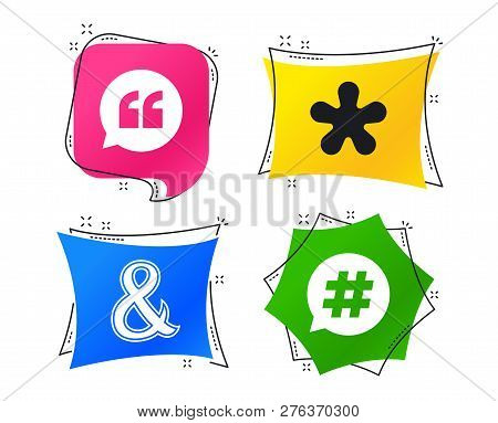 Quote, Asterisk Vector & Photo (Free Trial) | Bigstock