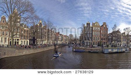Amsterdam cityview at Brouwersgracht - Keizersgracht in the Netherlands
