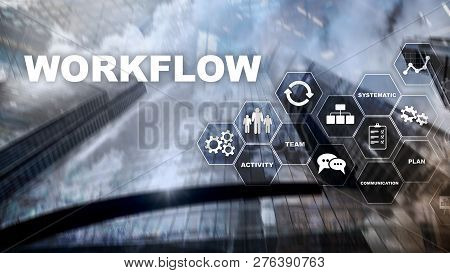 Automation Of Business Workflows. Work Process. Reliability And Repeatability In Technology And Fina