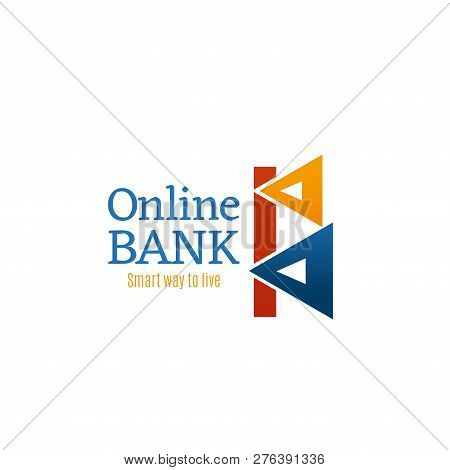 Letter B Icon For Online Bank Or Financial Investment Group Or Banking Industry Design. Vector Geome