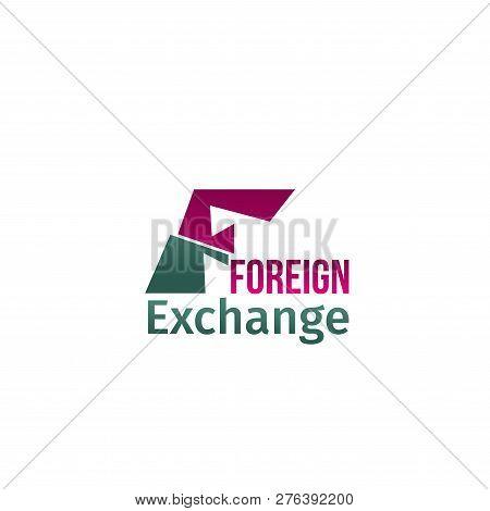 Foreign Exchange Vector Sign. Creative Badge For Translation Agency Or Education Language School. La