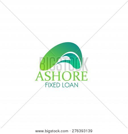 Ashore Fixed Loan Vector Icon Isolated On White Background. Concept Of Financial Calendar Or Annual
