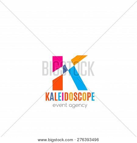 Kaleidoscope Event Agency Vector Icon Isolated On White Background. Agency Sign For Holidays And Eve