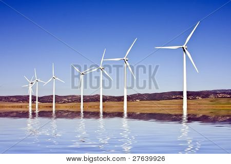 Windturbines in the countryside from Spain