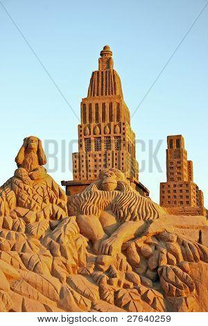 City sandsculpture