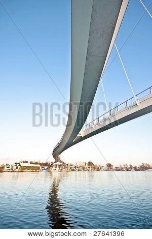 Nescio pedestrian bridge in Amsterdam the Netherlands
