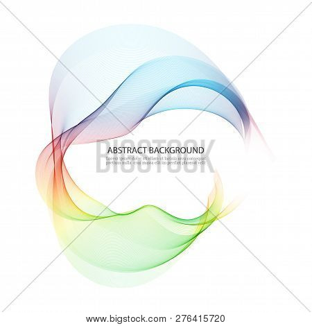 Green Blue Wave Abstract Background With Color Circle