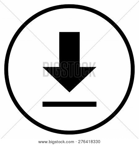 Download Symbol - Flat Icon In Circle For Downloading