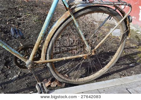 Detail of old bike