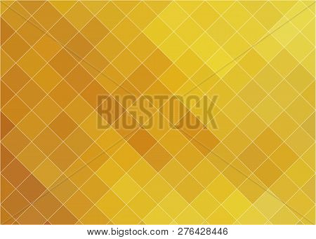 Abstract Yellow Geometric Background. Abstract Mosaic Background. Hot Yellow Cubic Geometric Design