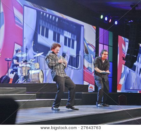 Las Vegas - April 11: Musicians Of Rock Band Playing On Ipads At Opening Ceremony Annual Ibm Impact