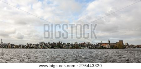View Of Zaanstad Village From The River Zaan. The Netherlands