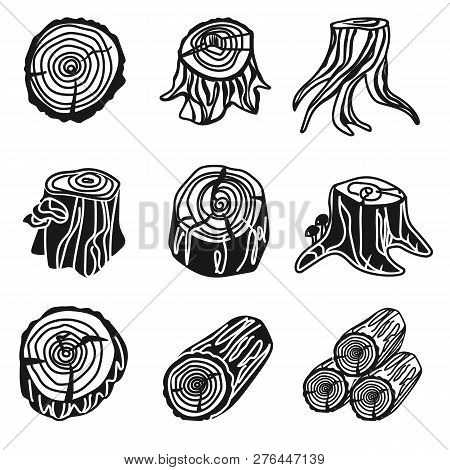 Stumps Icon Set. Simple Set Of Stumps Vector Icons For Web Design On White Background