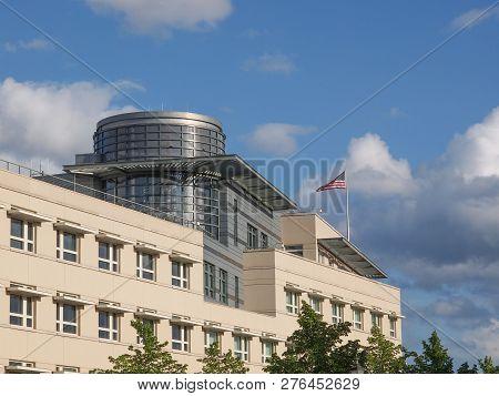 American Embassy In Pariser Platz In Berlin, Germany