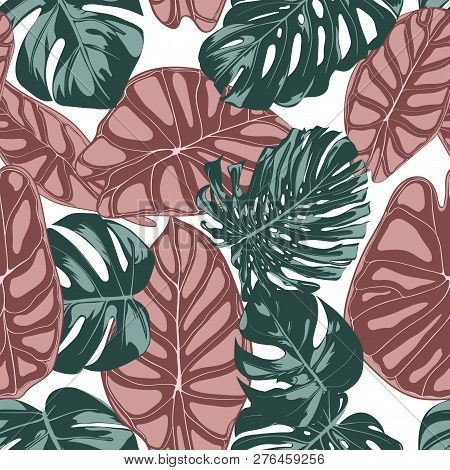 Tropical Jungle Vector Photo Free Trial Bigstock Summer pattern for your clothes, typography, design. tropical jungle vector photo free