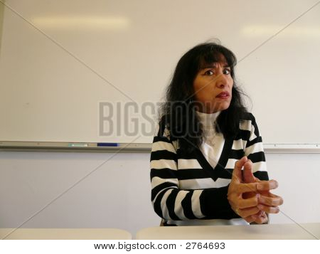 Spanish Teacher Looking Concerned