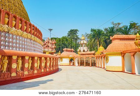 The Temple Of Sitagu International Buddhist Academy Is Famous For Fine Plasterwork Decorations In Ye