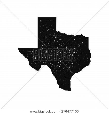 Texas Map With Vintage Stamp Effect. Texas Map Icon. Grunge Texture.vector Illustration