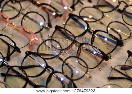 Glasses, Eyeglasses Optical Store, Fashion Eyewear At Night Market, Colorful Glasses, Glasses On She