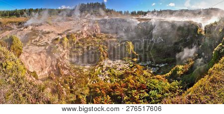 Craters Of The Moon Geothermal Park In Taupo, New Zealand