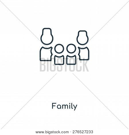 Family Icon In Trendy Design Style. Family Icon Isolated On White Background. Family Vector Icon Sim