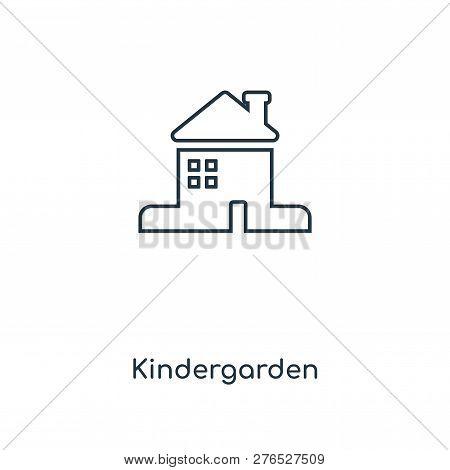 Kindergarden Icon In Trendy Design Style. Kindergarden Icon Isolated On White Background. Kindergard