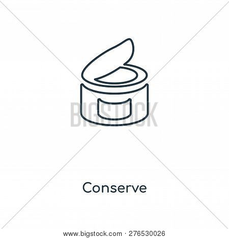 Conserve Icon In Trendy Design Style. Conserve Icon Isolated On White Background. Conserve Vector Ic
