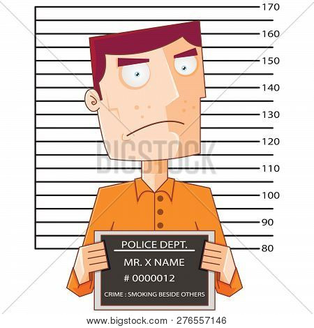 Prisoner Number Twelve With Police Data Board