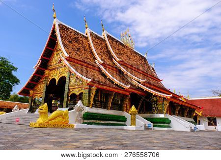 Karasin / Thailand-december 28 2018 :  Wat Wang Kam Is A Beautiful Northeast Architecture Temple. Th