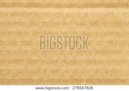 Brown Cardboard Texture Pattern Background,  Horizontal Stripes